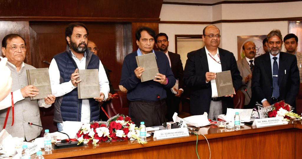 Union Commerce and Industry Minister Suresh Prabhu releases the report on cement industry prepared by National Council for Cement and Building Materials (NCCBM) in New Delhi, on Feb 5, ... - Suresh Prabhu