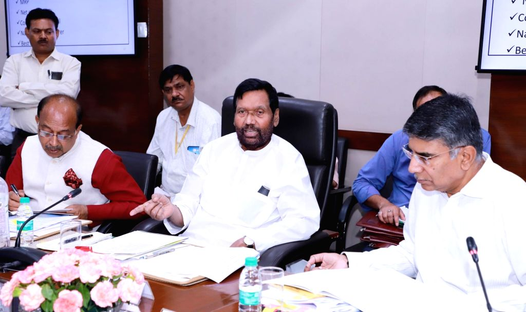 Union Consumer Affairs, Food and Public Distribution Minister Ram Vilas Paswan addresses a press conference about the Rules and Regulations being formulated under the Consumer Protection ... - Ram Vilas Paswan