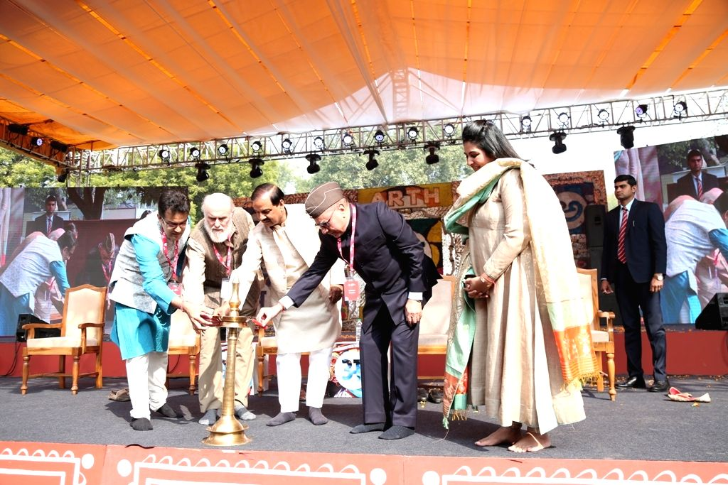 """Union Culture Minister Mahesh Sharma at the inauguration of """"Arth: A Culture Fest"""" at Indira Gandhi National Centre for Arts in New Delhi on Feb 8, 2019. - Mahesh Sharma"""
