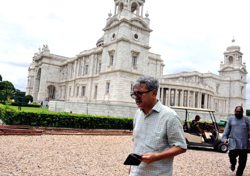 Union Culture Secretary Raghavendra Singh during his visit to the Victoria Memorial, in Kolkata, on July 20, 2018.