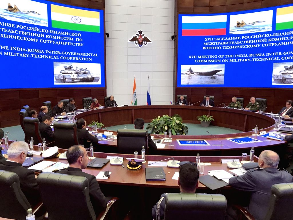 Union Defence Minister Arun Jaitley co-chairs the 17th IRIGC-MTC meeting with the Russian Defence Minister General Sergei Shoigu in Moscow, on June 23, 2017. - Arun Jaitley