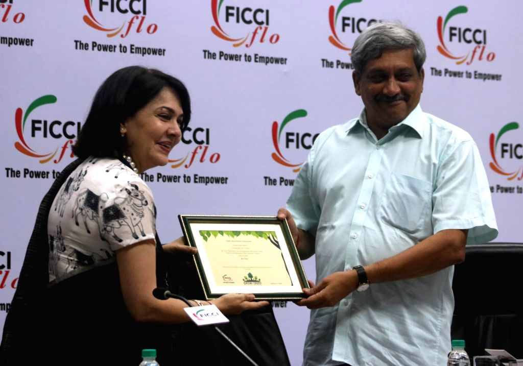 "Union Defence Minister Manohar Parrikar during ""Parivartan in Defence Sector: Changing Role & Opportunities for Women"" a FICCI-FLO programme in New Delhi on July 4, 2016. - Manohar Parrikar"