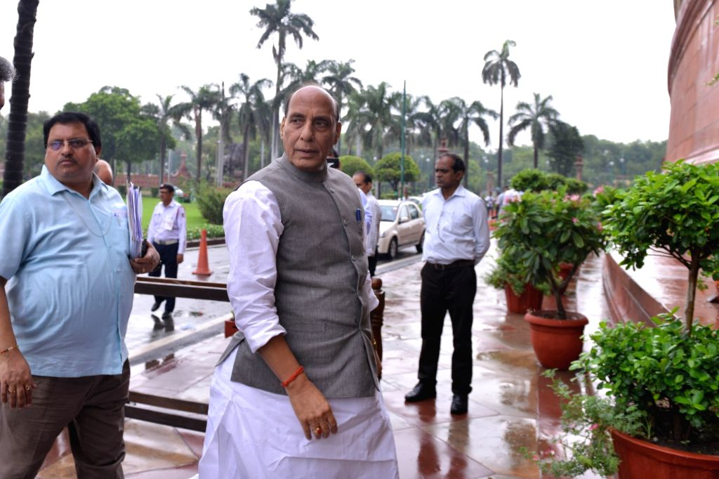 Union Defence Minister Rajnath Singh at Parliament in New Delhi on July 18, 2019. - Rajnath Singh