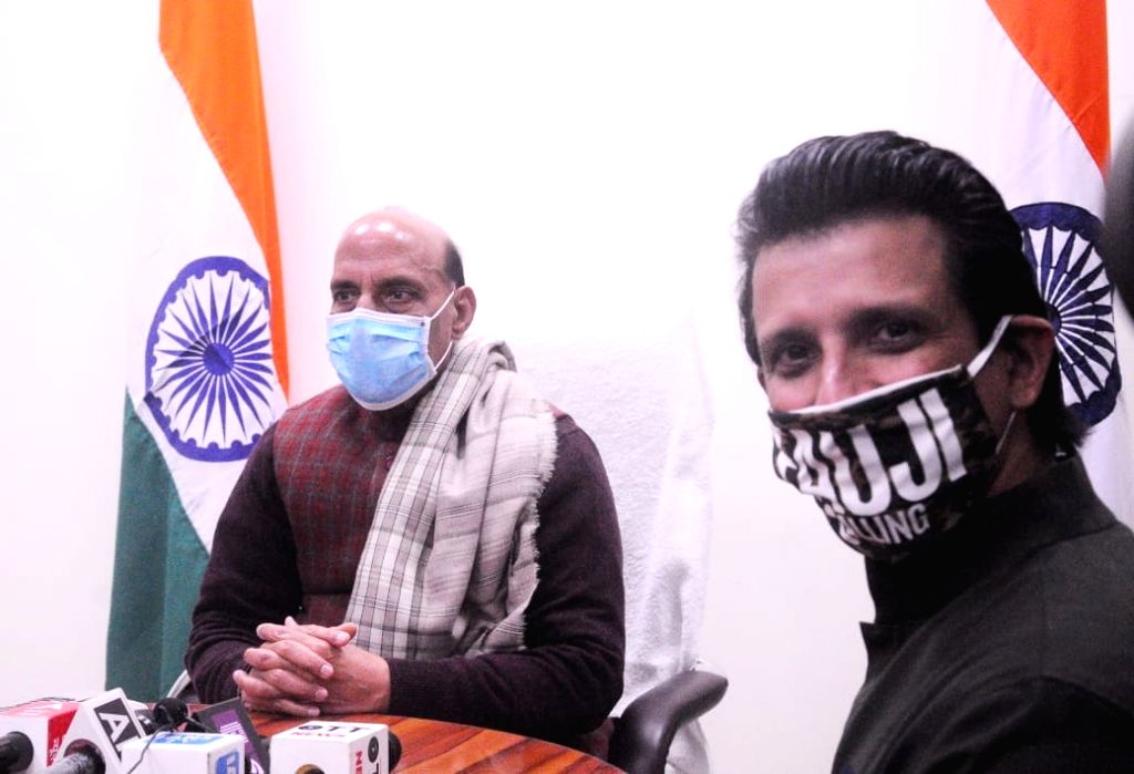 Union Defense minister Rajnath Singh unveiled a trailer of film ' Fauji' in new Delhi on Monday.. - Rajnath Singh