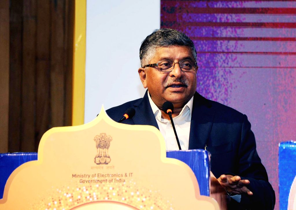 Union Electronics and Information Technology Minister Ravi Shankar Prasad addresses at the Digital India Awards 2019, in New Delhi, on Feb 22, 2019. - Ravi Shankar Prasad