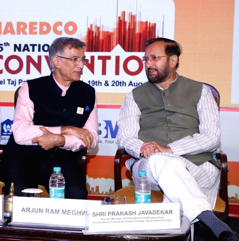 Union Environment and Forests Minister Prakash Javadekar in a conversation with National Real Estate Development Council (NAREDCO) President Niranjan Hiranandani at the 15th National ... - Prakash Javadekar