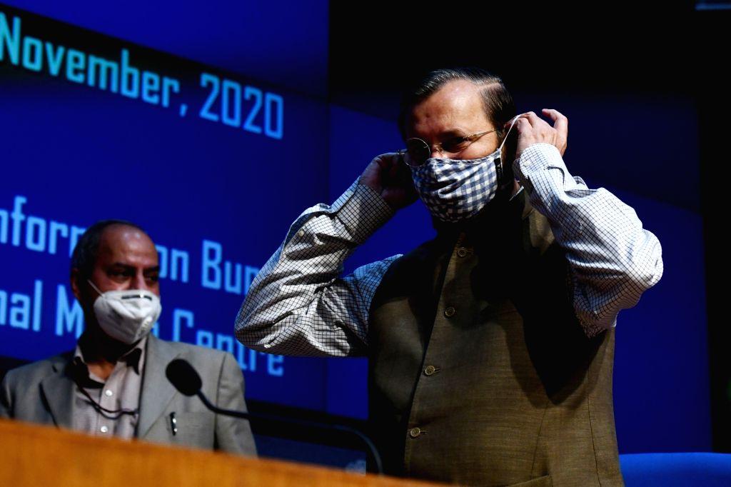 Union Environment, Forest & Climate Change, Information & Broadcasting and Heavy Industries and Public Enterprise Minister Prakash Javadekar briefs the media on various Cabinet ... - Prakash Javadekar