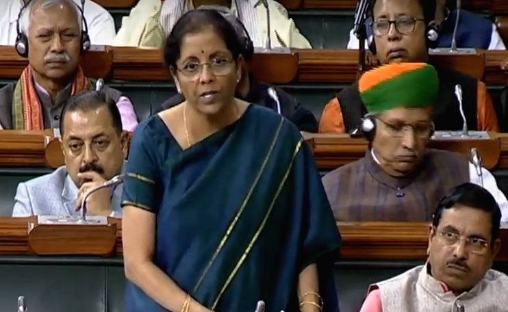 Union Finance and Corporate Affairs Minister Nirmala Sitharaman speaks during discussion and voting on supplementary demands for grants - second batch for 2019-2020 in the Lok Sabha during ... - Nirmala Sitharaman