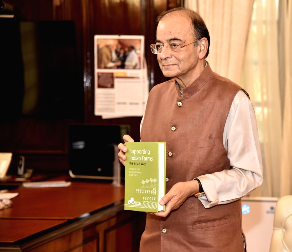 "Union Finance and Corporate Affairs Minister Arun Jaitley releases Ashok Gulati's book titled ""Supporting Indian Farms the Smart Way""  via video conference, in New Delhi on Sept ... - Arun Jaitley"