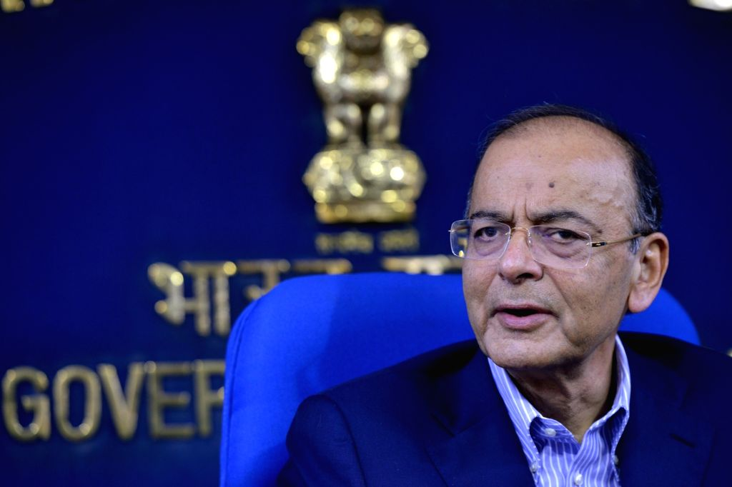 Union Finance and Corporate Affairs Minister Arun Jaitley addresses a press conference in New Delhi, on March 7, 2019. - Arun Jaitley
