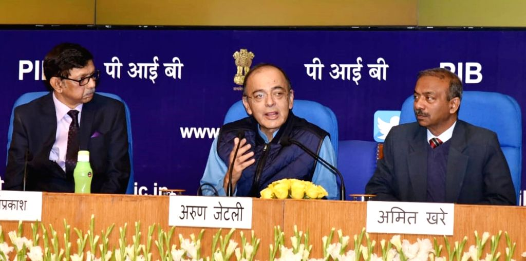"""Union Finance Minister Arun Jaitley addresses at the release of the book """"Mann ki Baat - A Social Revolution on Radio"""", in New Delhi on March 2, 2019. - Arun Jaitley"""