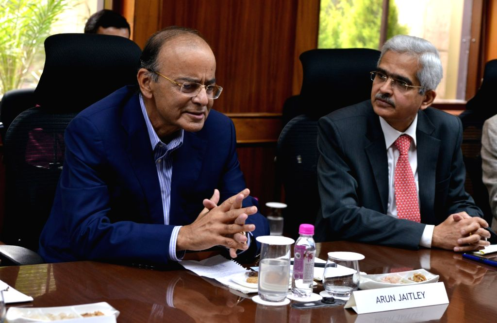 Union Finance Minister Arun Jaitley and RBI Governor Shaktikanta Das during RBI central board meeting, in New Delhi on Feb 18, 2019. - Arun Jaitley