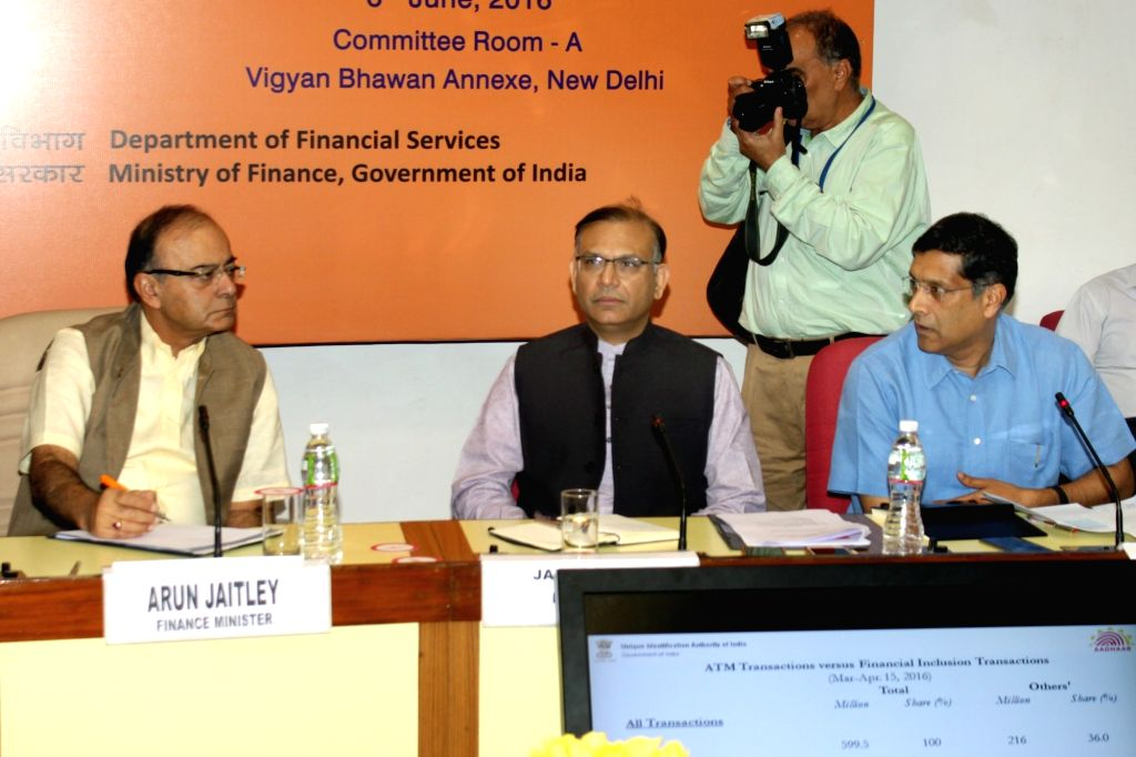 Union Finance Minister Arun Jaitley at the Quarterly Performance Review Meeting of the Chairman and Managing Directors/CEOs of Public Sector Banks (PSBs) & Financial Institutions, in ... - Arun Jaitley