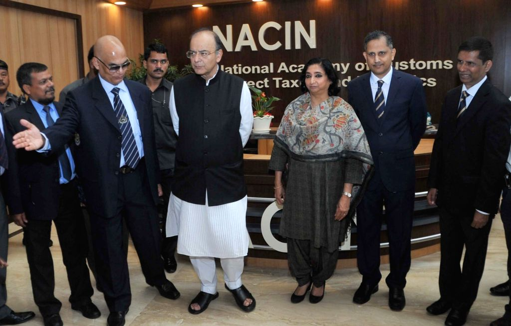 Union Finance Minister Arun Jaitley during inauguration of National Academy of Customs, Indirect Taxes and Narcotics in Bengaluru on May 29, 2017. - Arun Jaitley