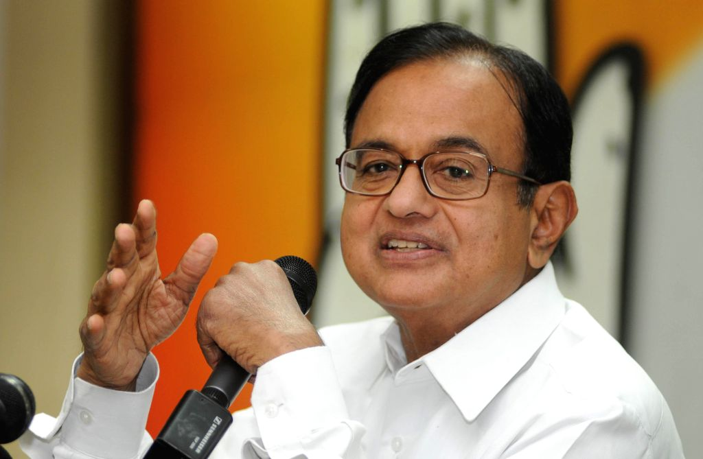 Union Finance Minister P Chidambaram during a press conference in New Delhi on May 8, 2014.