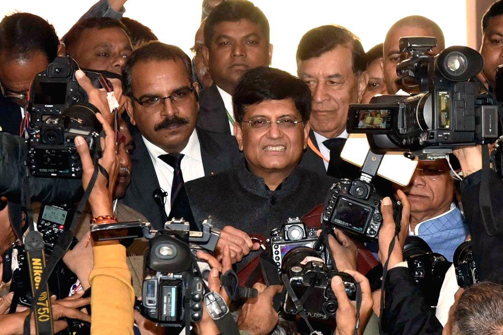 Union Finance Minister Piyush Goyal arrives at Parliament to present the interim budget 2019 in New Delhi, on Feb 1, 2019. - Piyush Goyal