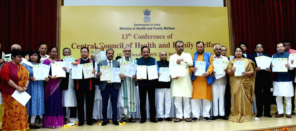 Union Health and Family Welfare Minister Harsh Vardhan releases National Diabetes and Diabetic Retinopathy Survey India 2015-19, at the inauguration of the 13th Conference of the Central ... - Harsh Vardhan
