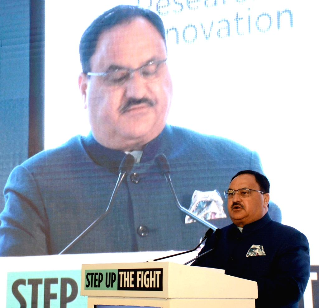 Union Health and Family Welfare Minister J.P. Nadda addresses at 'India Showcase' - Global Fund's Sixth Replenishment (2020-22) Preparatory Meeting, in New Delhi on Feb 7, 2019. - J.