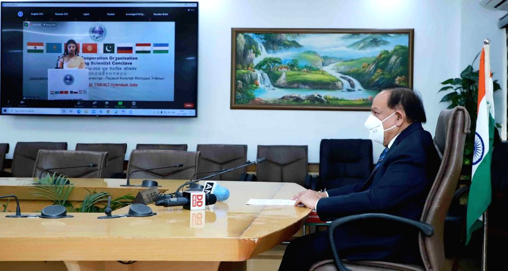 Union Health and Family Welfare, Science & Technology and Earth Sciences Minister Harsh Vardhan virtually addresses the SCO (Shanghai Cooperation Organization) Young Scientist ... - Harsh Vardhan