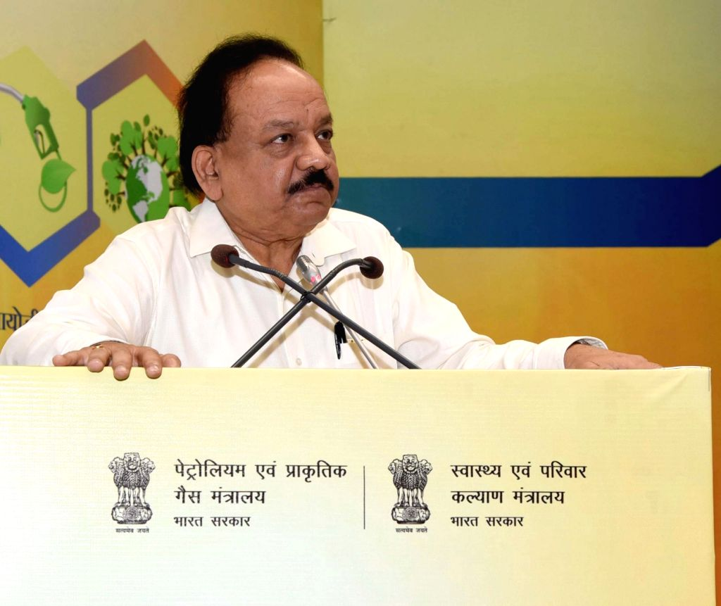 Union Health and Family Welfare, Science and Technology and Earth Sciences Minister Harsh Vardhan addresses at the inauguration of the ???World Biofuel Day???, in New Delhi on Aug 10, 2019. - Harsh Vardhan