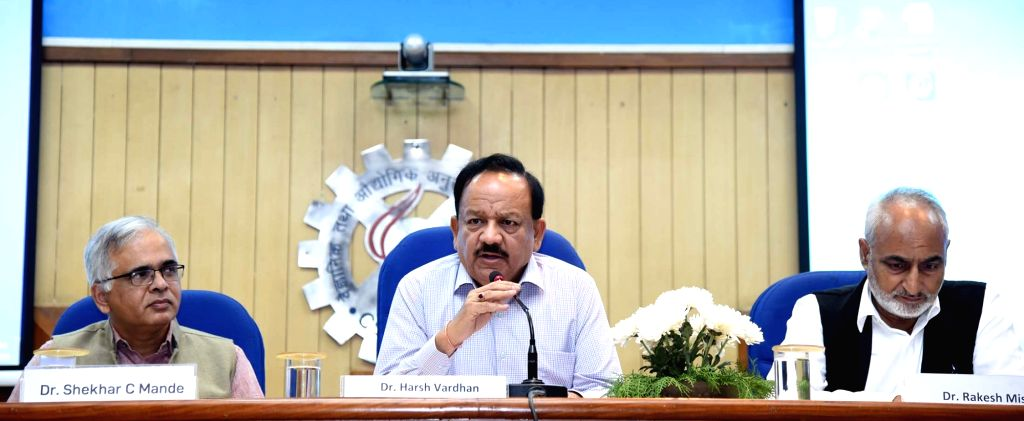 Union Health and Family Welfare, Science and Technology and Earth Sciences Minister Harsh Vardhan addresses a press conference on human genome sequencing for various healthcare ... - Harsh Vardhan
