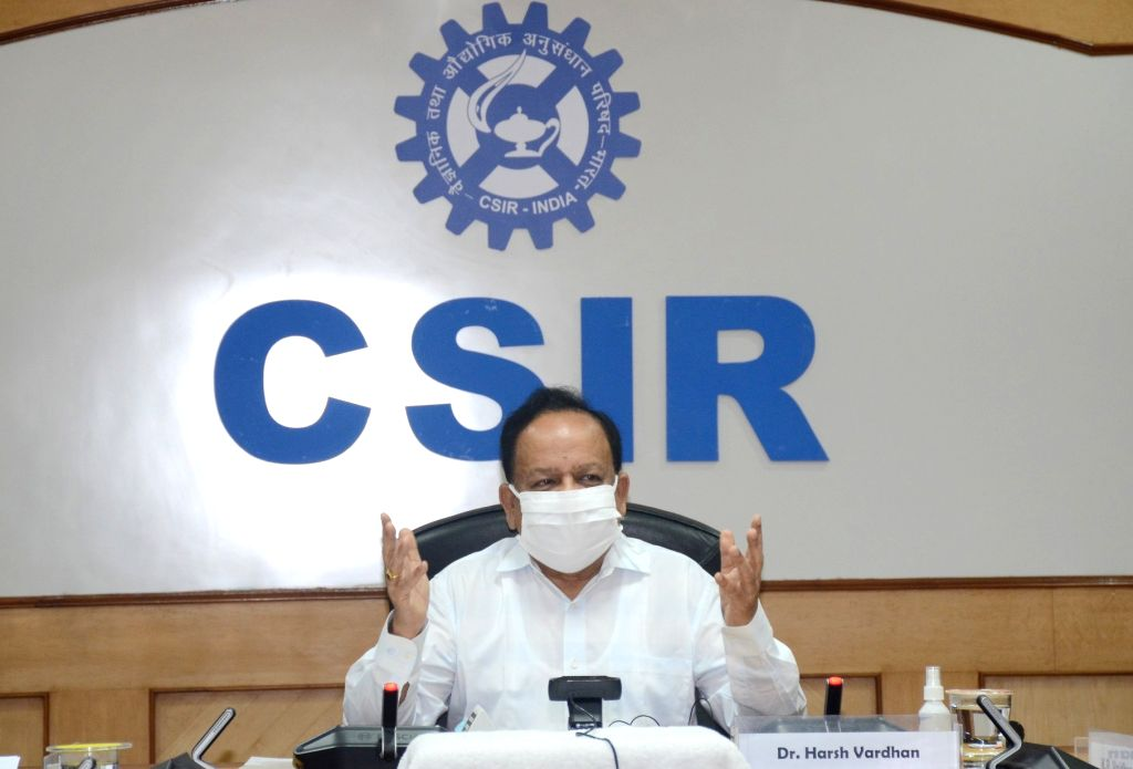 Union Health & Family Welfare, Science & Technology and Earth Sciences Minister Harsh Vardhan addresses at the release of a compendium of Covid-19 technologies and products ... - Harsh Vardhan