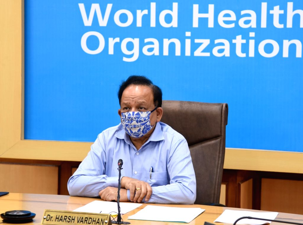 Union Health & Family Welfare, Science & Technology and Earth Sciences Minister Harsh Vardhan presides over a virtual meet of the Bureau of the Executive Board as the Chairman of ... - Harsh Vardhan
