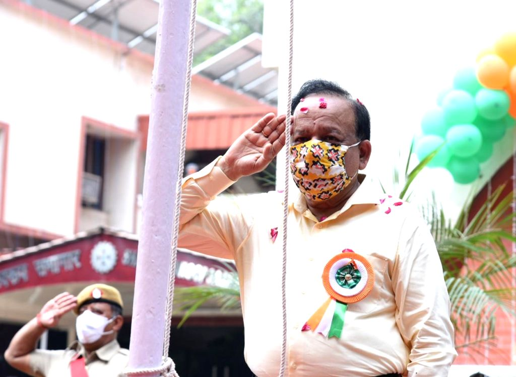 Union Health & Family Welfare, Science & Technology and Earth Sciences Minister Harsh Vardhan hoists the national flag on the occasion of 74th Independence Day, in New Delhi on Aug ... - Harsh Vardhan