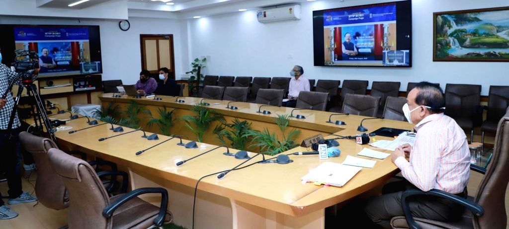 Union Health & Family Welfare, Science & Technology and Earth Sciences Minister Harsh Vardhan at the inauguration of the 'In Conversation with' - a series of exclusive interactions ... - Harsh Vardhan