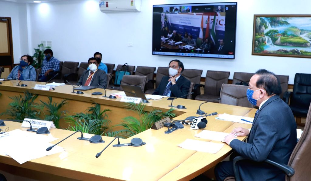 Union Health & Family Welfare, Science & Technology and Earth Sciences Minister Harsh Vardhan participates in the 8th BRICS STI Ministerial Meeting, through video conferencing, in ... - Harsh Vardhan