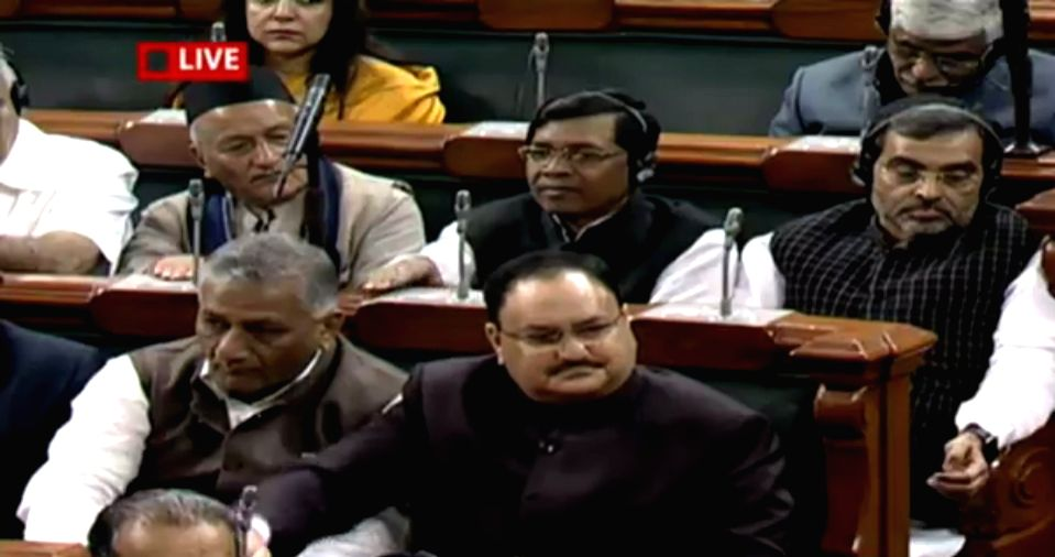 Union Health Minister JP Nadda during presentation of the Union Budget 2018-19 at Parliament on Feb. 1, 2018. - J
