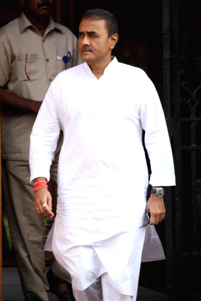 Union Heavy Industries Minister Praful Patel comes out after the last cabinet meeting of UPA-II government in New Delhi on May 13, 2014. - Praful Patel