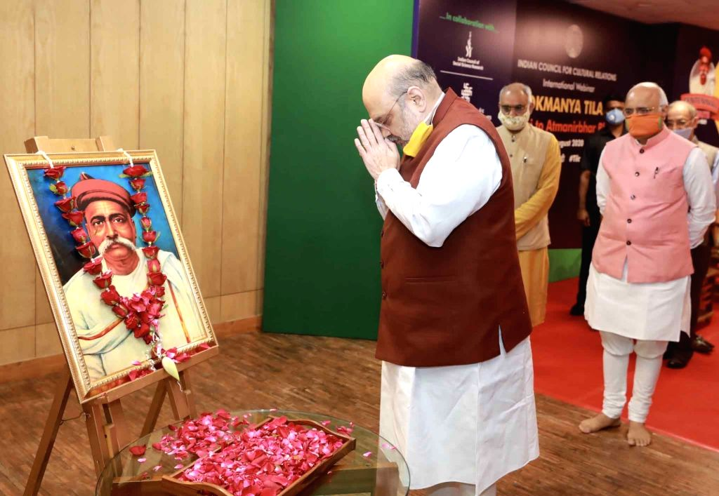 Union Home Minister Amit Shah addresses at the inauguration of the two-day international webinar on 'Lokmanya Tilak - Swaraj to Self-Reliant India' to mark the 100th death anniversary of ... - Amit Shah