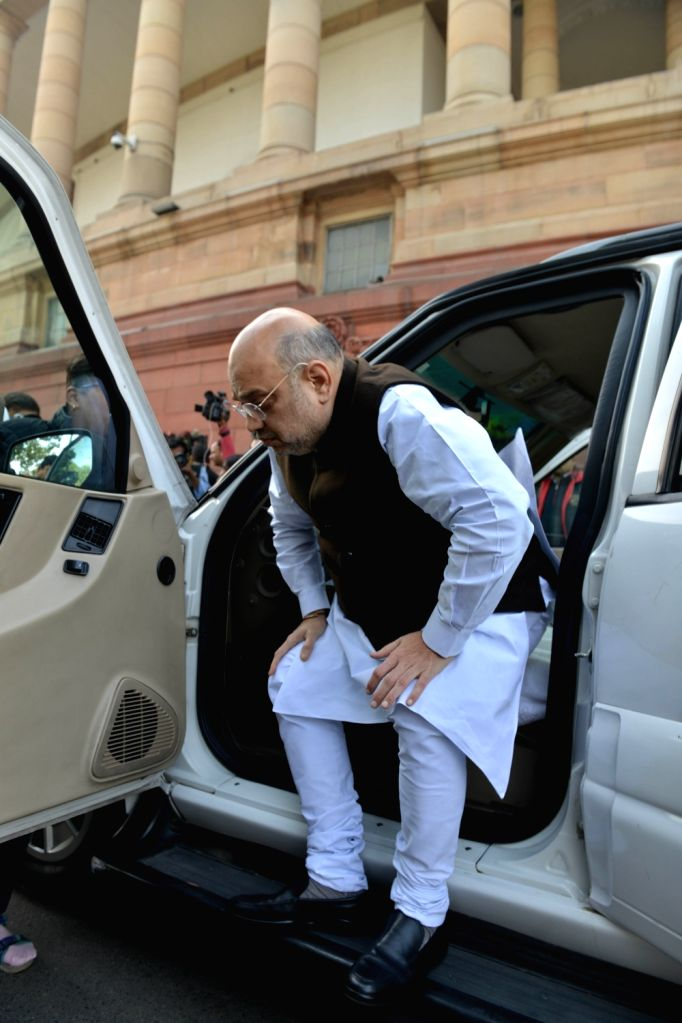 Union Home Minister Amit Shah at Parliament in New Delhi on Dec 4, 2019. - Amit Shah