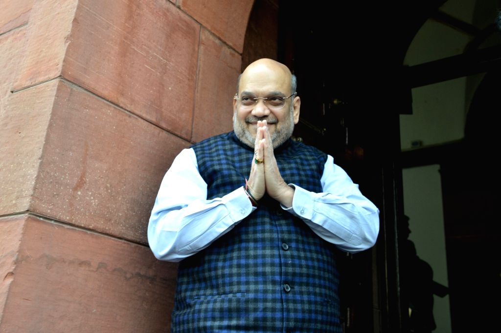 Union Home Minister Amit Shah at Parliament in New Delhi on Dec 5, 2019. - Amit Shah