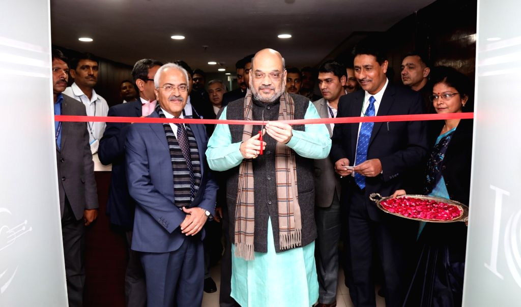 Union Home Minister Amit Shah inaugurates the Indian Cyber Crime Coordination Centre (I4C) and dedicated National Cyber Crime Reporting Portal to the Nation, in New Delhi on Jan 10, 2020. - Amit Shah