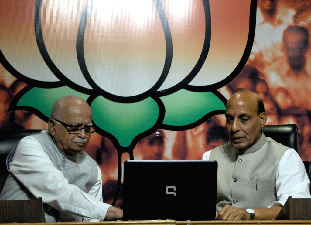 Union Home Minister and BJP chief Rajnath Singh launch party's online membership campaign on the birth anniversary of BJP ideologue and Jana Sangh founder Shyama Prasad Mukherjee in New Delhi on July - Rajnath Singh and Shyama Prasad Mukherjee