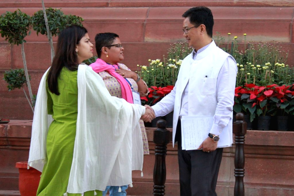 Union Home Minister of State for Home Affairs Kiren Rijiju at the Parliament on Nov 21, 2016.