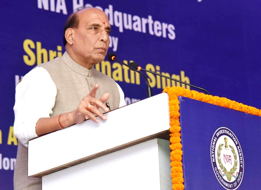 Union Home Minister Rajnath Singh addresses during the inauguration of new office complex of National Investigation Agency (NIA) headquarters in New Delhi on Oct 10, 2017. - Rajnath Singh