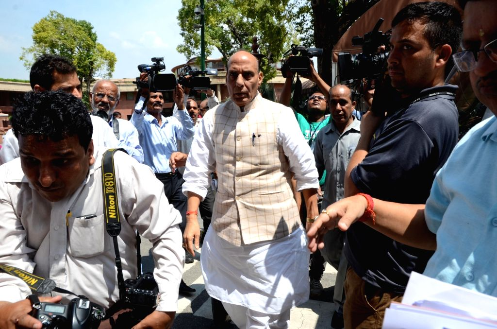 Union Home Minister Rajnath Singh at Parliament in New Delhi on on Aug 8, 2016. - Rajnath Singh