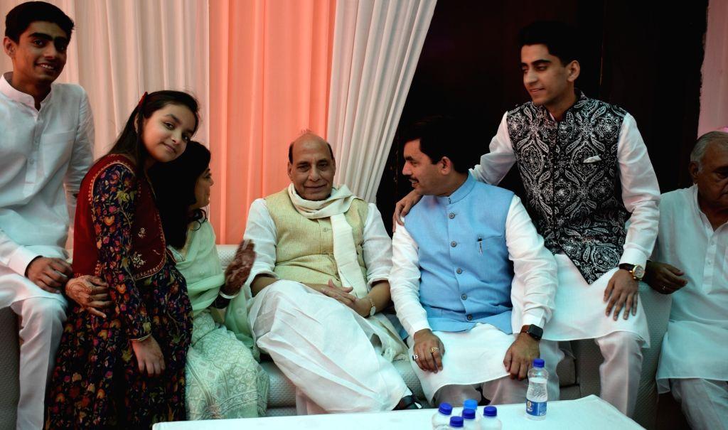 Rajnath Singh celebrates Eid-Ul-Fitr with BJP leader Syed ...
