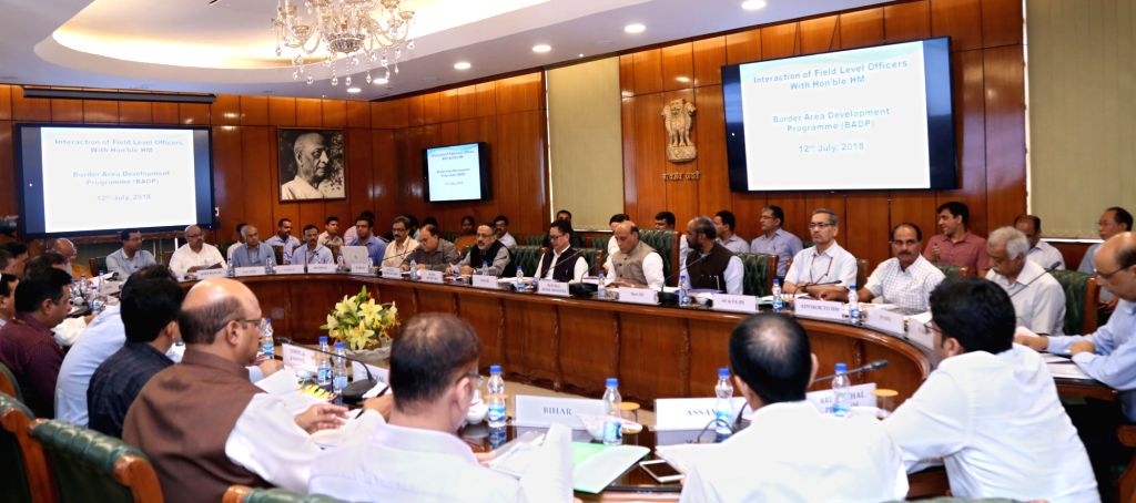 Union Home Minister Rajnath Singh chairs a meeting with the Field Level Officers to review the Border Area Development Programme (BADP) along with Ministers of State for Home Affairs ... - Rajnath Singh