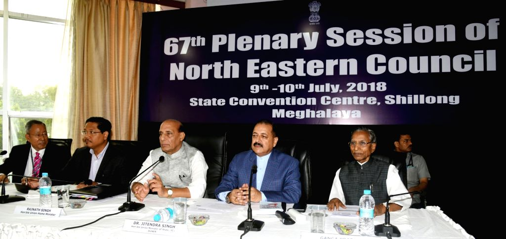 Union Home Minister Rajnath Singh chairs the 67th Plenary Session of the North Eastern Council (NEC) along with Union MoS North Eastern Region Jitendra Singh, Meghalaya ... - Rajnath Singh