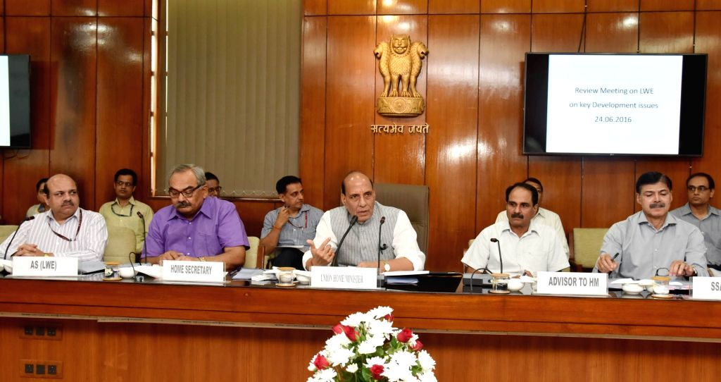 Union Home Minister Rajnath Singh in a meeting with the Secretaries of the Central Ministries and Chief Secretaries of 7 Left Wing Extremism affected states to review key development ... - Rajnath Singh