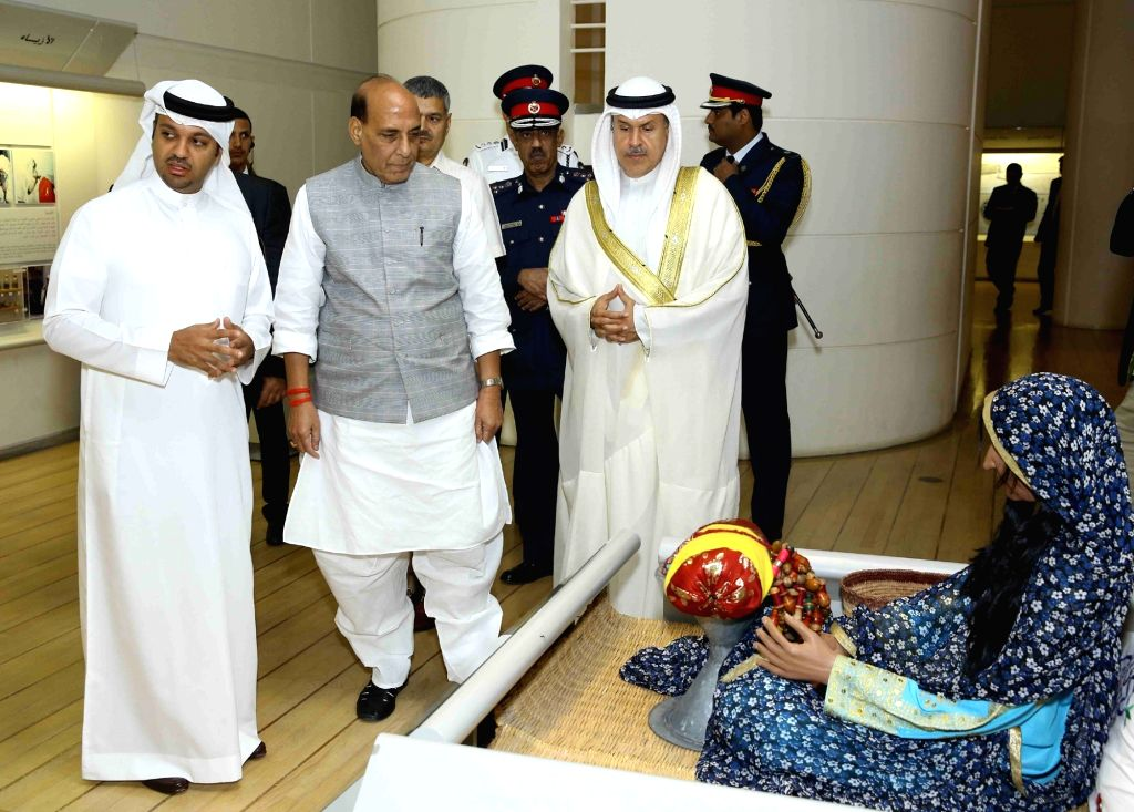 Union Home Minister Rajnath Singh visits the Bahrain National Museum in Manama on Oct 25, 2016. - Rajnath Singh