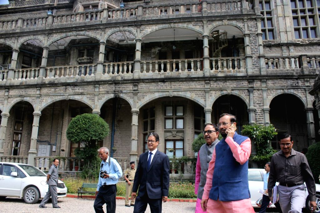 Union HRD Minister Prakash Javadekar at Indian Institute of Advanced Study in Shimla on May 26, 2017. - Prakash Javadekar