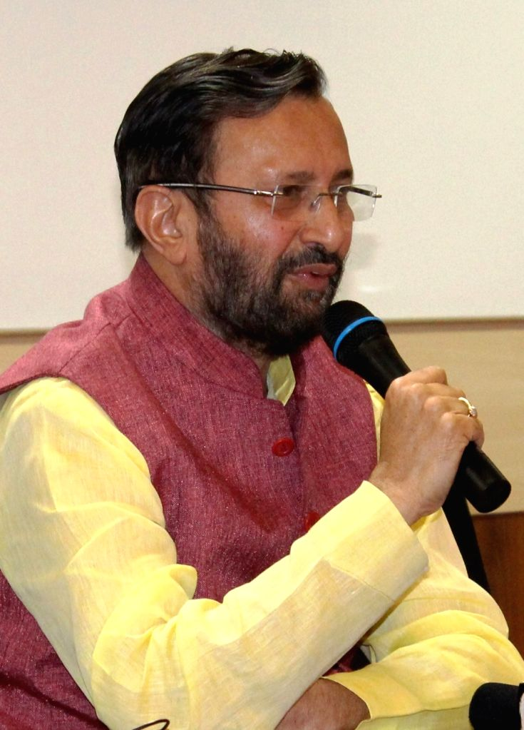 Union HRD Minister Prakash Javadekar during an interactive session with the students during his visits to Centre for Nano Science and Engineering at Indian Institute of Science, in ... - Prakash Javadekar