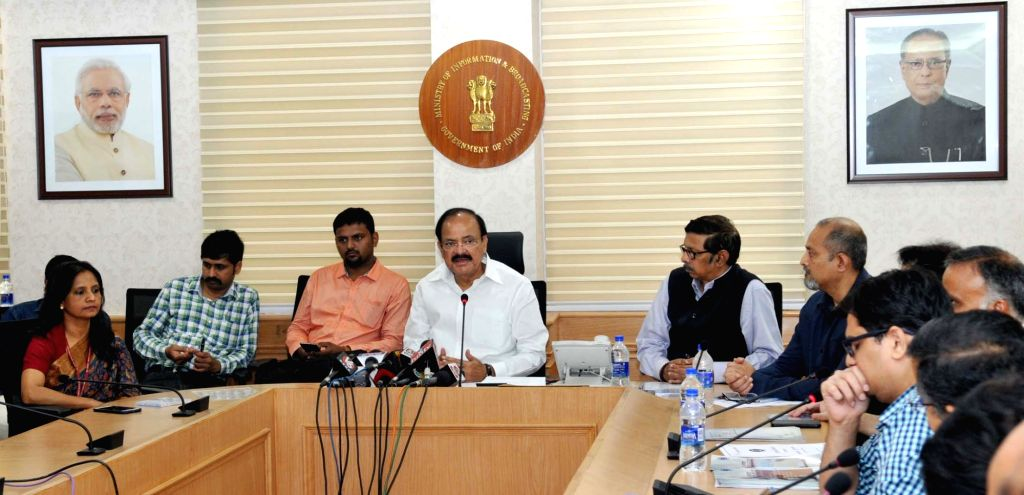 Union Information and Broadcasting Minister M. Venkaiah Naidu addresses at the release of the 14 short films produced by Doordarshan on success stories of various Flagship schemes of the ... - M. Venkaiah Naidu