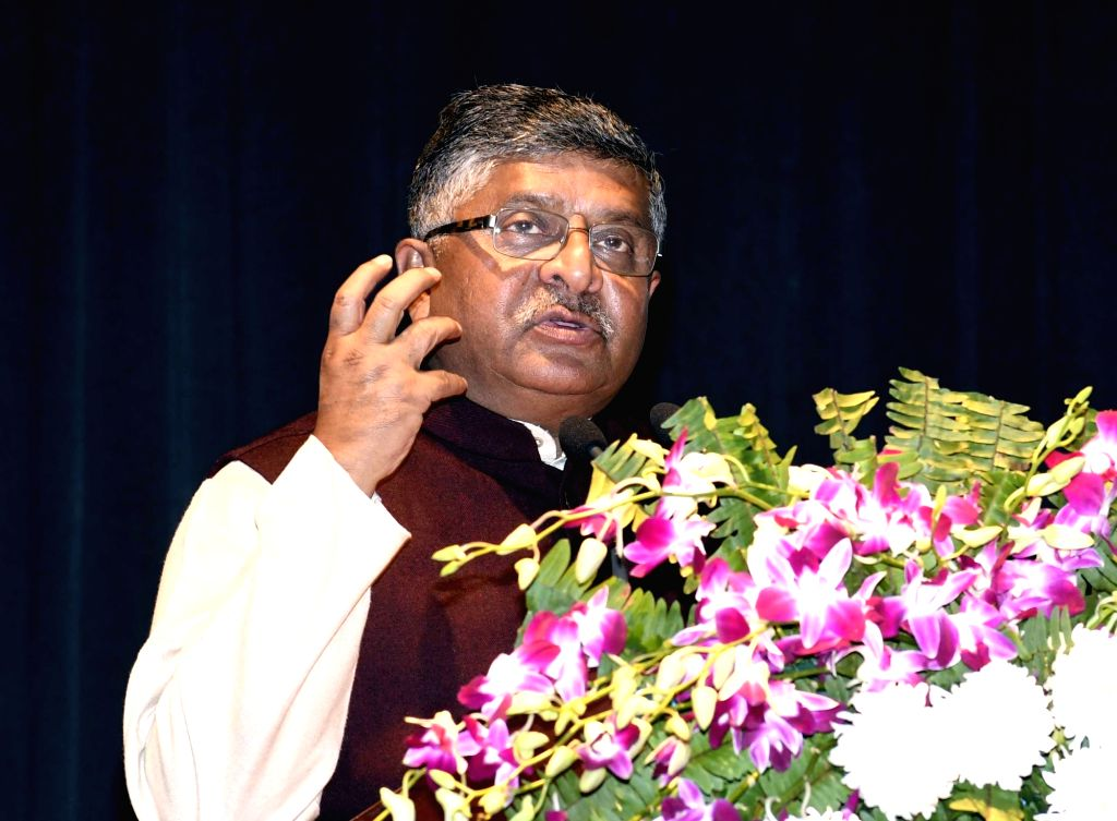 Union Law and Justice and Electronics and Information Technology Minister Ravi Shankar Prasad addresses at the inauguration of STPI New Incubation Facility at Gyan Bhawan, in Patna, on  Feb 2, ... - Ravi Shankar Prasad