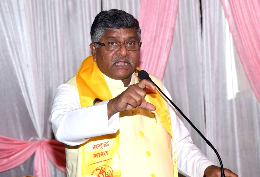 Union Law and Justice and Electronics and Information Technology Minister Ravi Shankar Prasad addresses at a programme, in Patna, on June 9, 2019. - Ravi Shankar Prasad